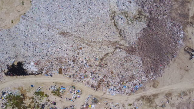 aerial view of landfill video