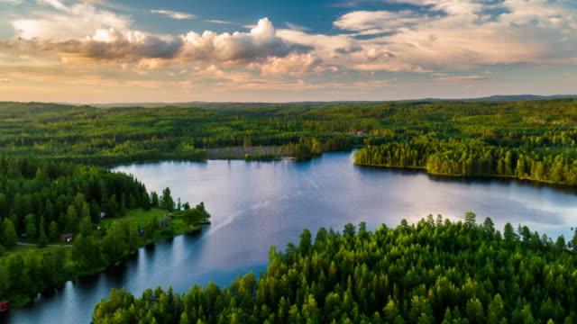 utsikt över landskapet i sverige - summer sweden bildbanksvideor och videomaterial från bakom kulisserna