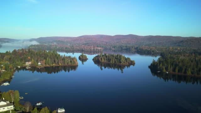 ローレンシアの空撮の風景, ケベック州, カナダ - 別荘点の映像素材/bロール