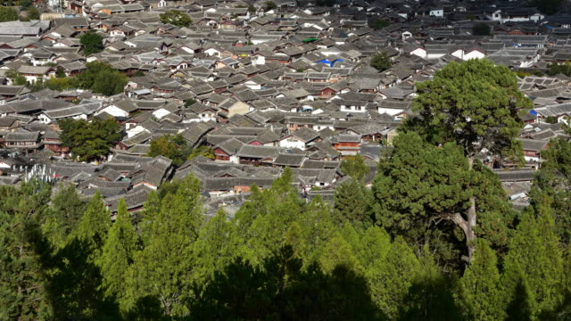 Aerial view of Lijiang,Yunnan,China.Lijiang is a famous tourist destination in China. video