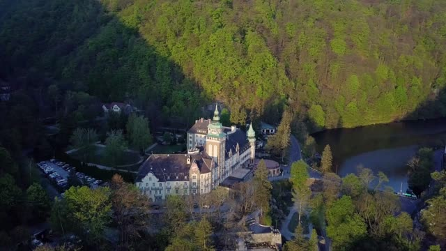 aerial view of Lillafured Castle