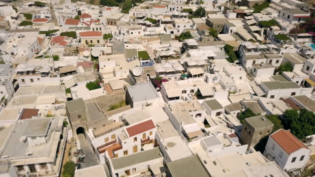 Aerial view of Lindos video