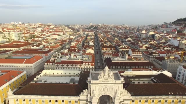 vídeos de stock e filmes b-roll de aerial view of lisbon, portugal - lisbon