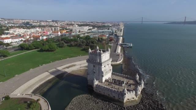 aerial view of lisbon, portugal - lisbona video stock e b–roll