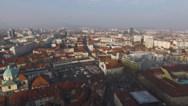 Aerial view of Ljubljana video