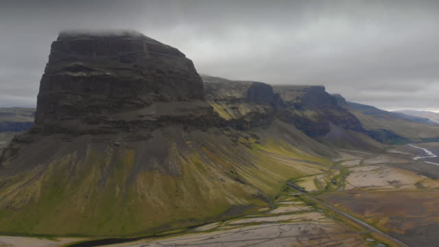 Aerial View of Lómagnúpur, Iceland