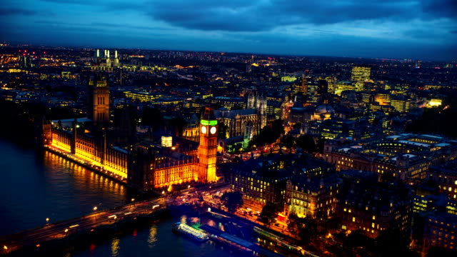 aerial view of london big ben - london architecture stock videos & royalty-free footage