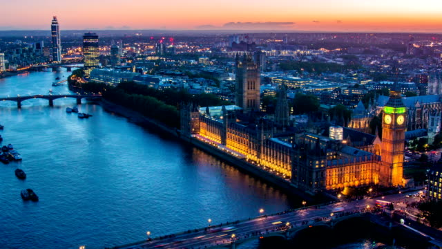 Aerial View of London Big Ben video