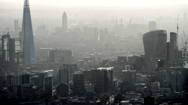 Aerial view of London City England video