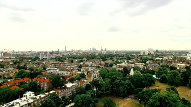 Aerial View of London City Footage video