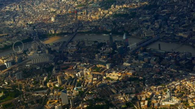 Aerial view of London, England, UK video