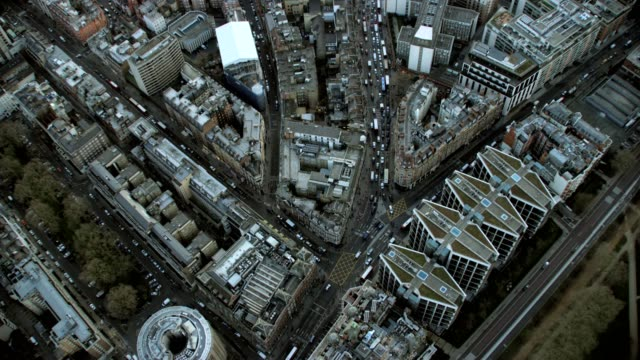Aerial View of London Streets England video