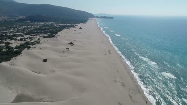 Aerial view of long sandy beach of 'Patara'/Antalya. Antalya/Turkey 11/14/2018