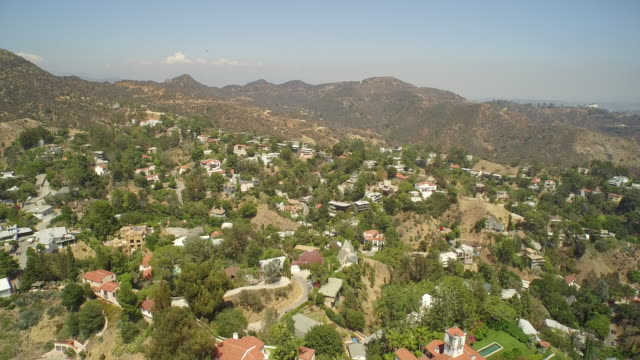 Aerial view of Los Angeles from Hollywood Hills  - Los Angeles, California, USA video