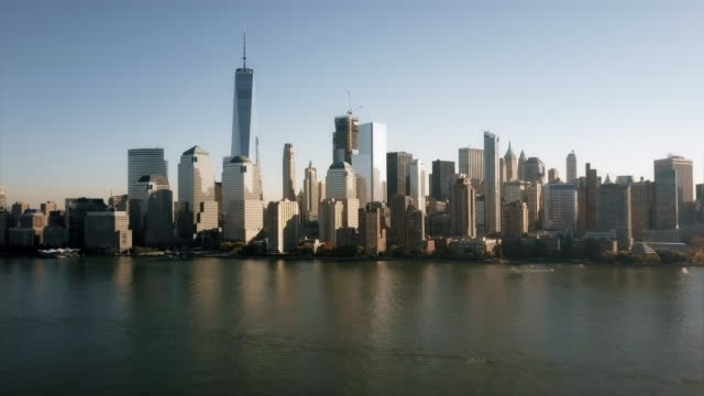Aerial View of Lower Manhattan 4K video