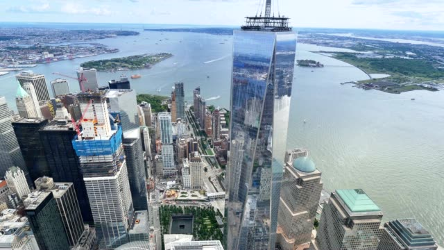 Aerial View of Lower Manhattan and Freedom Tower video