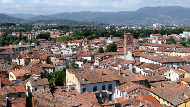 Aerial view of Lucca