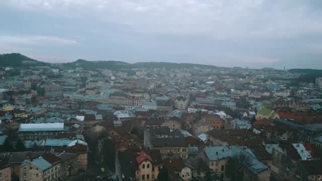 flyg bild över lviv och citadel inn hotel resort - 4 kilometer bildbanksvideor och videomaterial från bakom kulisserna