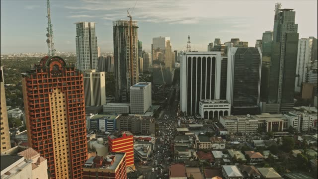 Aerial view of Makati Central Business District video