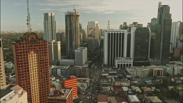 マカティ中央ビジネス地区の航空写真 ビデオ