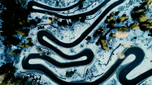 Aerial view of Maloja pass in Switzerland video