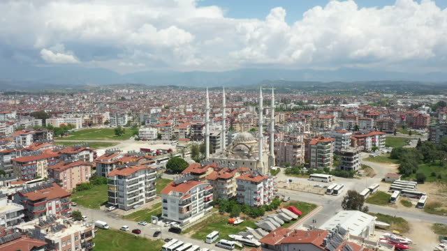 Aerial view of Manavgat city panoramic view