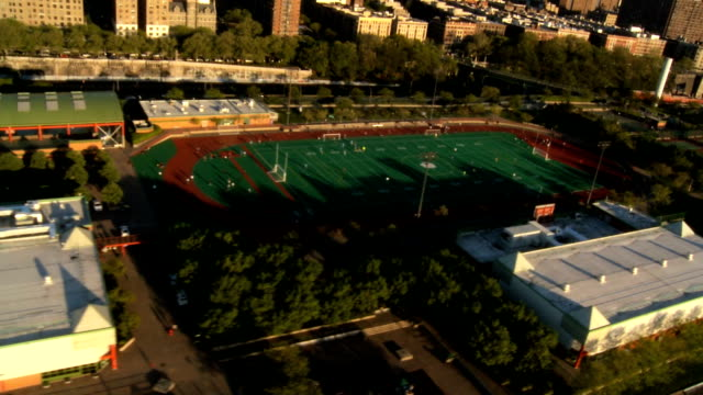 Aerial view of  Manhattan and Sporting areas, NY, USA video