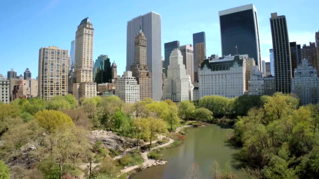 Aerial view of Manhattan, New York City video