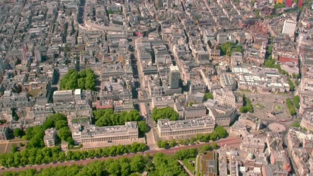 Aerial View of Mayfair, London, UK. 4K