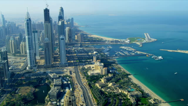 Aerial view of Media City Dubai video