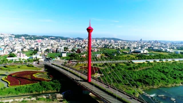 Aerial View of Miaoli City (Hakka City) 360 degree move , Taiwan video
