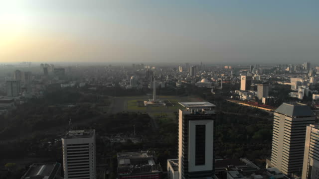 Aerial view of Monumen Nasional Aerial view of Monumen Nasional. Jakarta, Indonesia jakarta stock videos & royalty-free footage