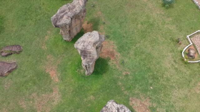 Aerial view of Mor Hin Khaow, Chaiyaphum, Thailand