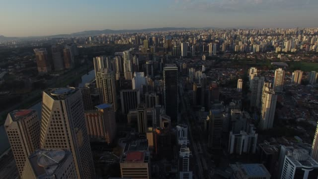 Aerial view of Morumbi in Sao Paulo, Brazil Aerial view of Morumbi in Sao Paulo, Brazil marginal pinheiros stock videos & royalty-free footage