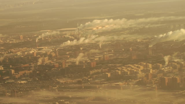 Aerial View of Moscow at Winter, Russia video