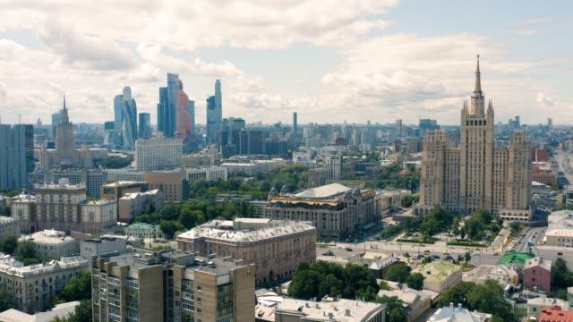 flyg foto över moskva - moskva bildbanksvideor och videomaterial från bakom kulisserna