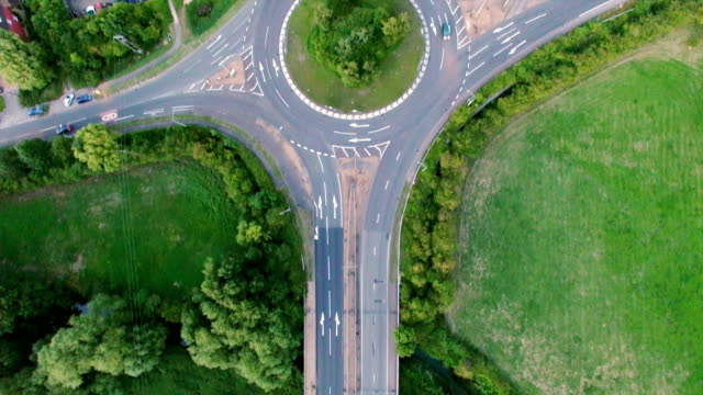 Aerial View of Motorway Junction video