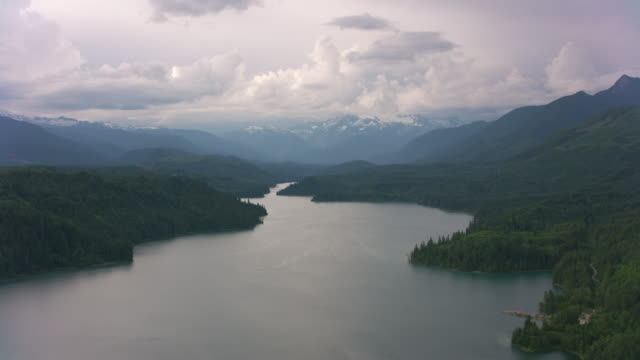 Aerial view of Mount Baker area.