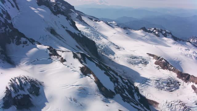 Aerial view of Mount Rainier.