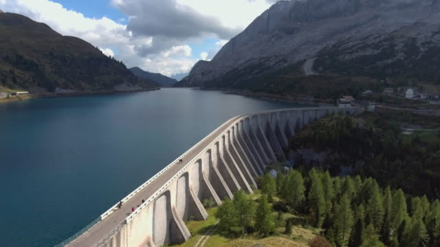 Aerial view of Mountain Dam and Forest video