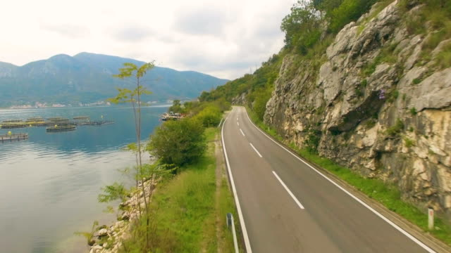 Aerial View of Mountain Road video