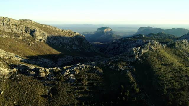 Aerial view of mountainous coastline video