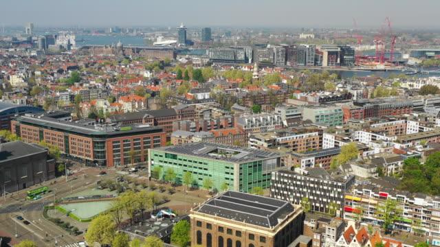 flyg foto över mr. visserplein street - drone amsterdam bildbanksvideor och videomaterial från bakom kulisserna