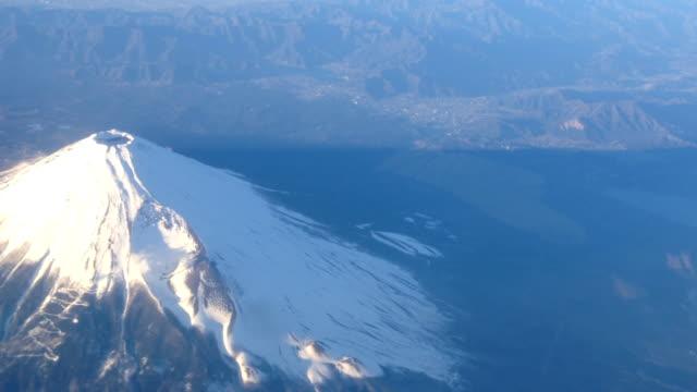 vidéos et rushes de vue aérienne du mont fuji - fuji yama