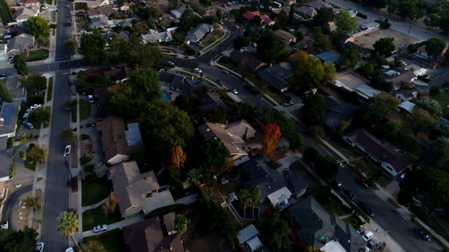 Aerial View of Neighborhood video