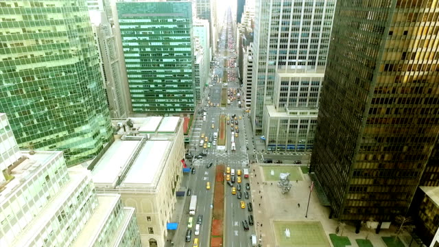 Aerial View of New York City Avenue video