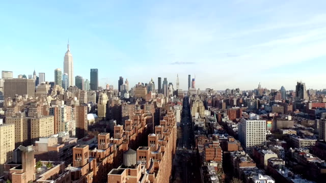 Aerial view of New York City video
