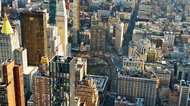 뉴욕 거리의 공중 보기. - 지역 유형 스톡 비디오 및 b-롤 화면