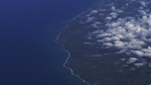 Aerial view of New Zealand north Island coastline video