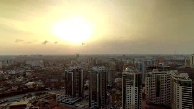 Aerial view of Odessa city Arcadia District in Ukraine video